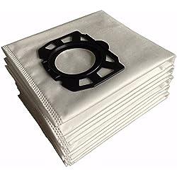 10 paquets pour Karcher Polaire Sacs filtrants de remplacement pour Wd4, Wd5, Wd5/P Wet & Dry aspirateurs MV4, MV5, Mv6