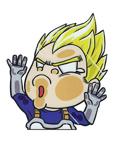 Anime World Gifts - Vegeta Dragon Ball (DBZ) Lustiger Aufkleber für Auto/Fenster/Computer (10,1 x 11,9 cm) (Computer Ball Z Dragon)