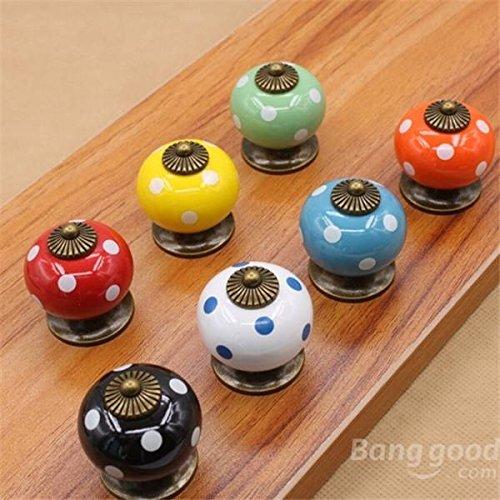 mark8shop Vintage Dot Rund Keramik Schublade Knopf Schrank Pull Griff Schrank Tür Griff
