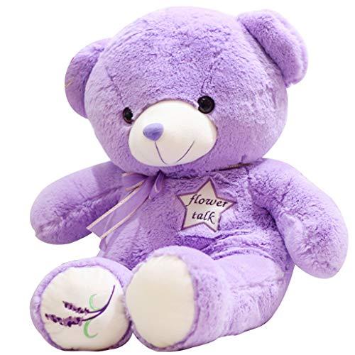 Lavendelfarbe Plüschtier Big Bear Puppe Bär Puppe Puppe Geburtstagsgeschenk Füllung Stofftier Kind Komfort Spielzeug Kissen Zum Schlafen, Voller Füllung (Color : Purple, Size : 80cm) (Big Stofftier Bear)