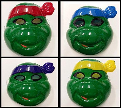 takestop® Maske Schildkröte Schildkröte Ninja Kostüm Mutante Karneval Verkleidung Gesicht Halloween Cosplay Farbe (Ninjas Schildkröten Kostüme)