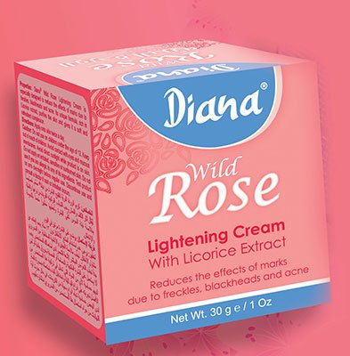 Crema aclarante Wild Rose de Diana de 30g, Elysee Star, que reduce marcas, pecas, acné y puntos negros