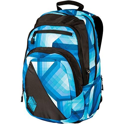 Nitro Stash Rucksack, Schulrucksack, Schoolbag, Daypack, Geo Ocean, 49 x 32 x 22 cm, 29 L