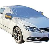 KOBWA - Cobertura para cristal de coche, protectores de hielo para proteger el parabrisas de escarcha, cobertura de invierno con líneas reflectantes de aviso
