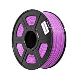 Tritina 3D Printer Filament PLA Noctilucent 3.00 mm, Genauigkeit ± 0.02 mm, 1kg Spulengewicht, Glow in the Dark (lila)