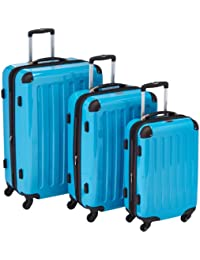 HAUPTSTADTKOFFER - Alex - Set of 3 Hard-Side Luggages Glossy, (S,