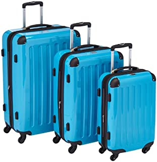 HAUPTSTADTKOFFER - Alex- Set of 3 Hard-side Luggages Trolley Suitces Expandable, (S, M & L), cyanblue (B0055S6PG0)   Amazon price tracker / tracking, Amazon price history charts, Amazon price watches, Amazon price drop alerts
