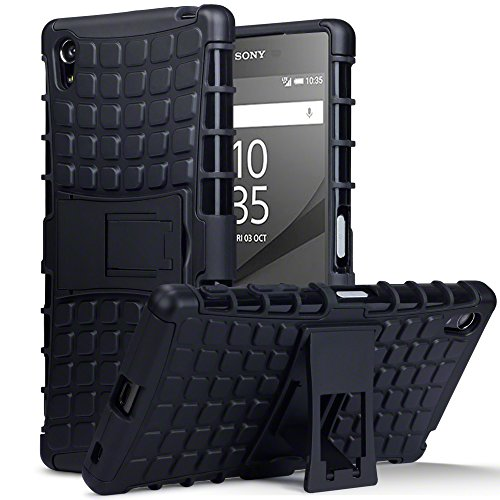 Sony Xperia Z5 Premium Tasche, Terrapin TPU + PC Hülle mit Standfunktion für Sony Xperia Z5 Premium Hülle Schwarz