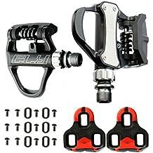 Pedales Automaticos de Aluminio SPD VP R73 para Bicicleta Color Negro Compatible con Look KEO MTB Road + Juego de Calas Incluido 3648
