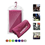 Aimerun Cooling Towels Summer Cool Sport Towel For Instant Cooling Relief, Chilling Neck Wrap, Ice Cold Scarf For Running, Workout, Yoga, Sports, Travel, Camping, Pliates,Fitness & Gym 40*12 inch