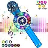 Microphone Sans Fil Karaoké, FishOaky Bluetooth Micro avec 2 Haut-Parleur Intégré,...