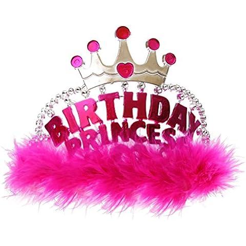 Diadema Tiare Compleanno Plastica Principessa Festa Accessori Costume Decorazione