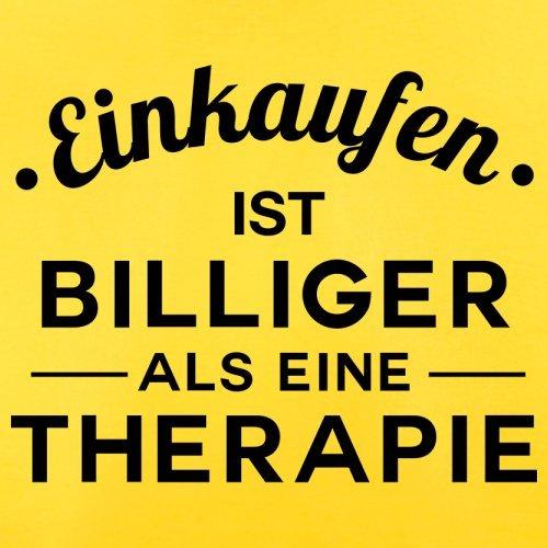 Einkaufen ist billiger als eine Therapie - Herren T-Shirt - 13 Farben Gelb