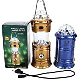 6 LED Solar Power Emergency Light Bulb (Lantern) - Travel Camping , Hiking , Party , Decoration , Multipurpose , Diwali , Christmas , Lantern - With 1 Watt LED FlashLIght And 3 LED Disco Bulb - Assorted Colours