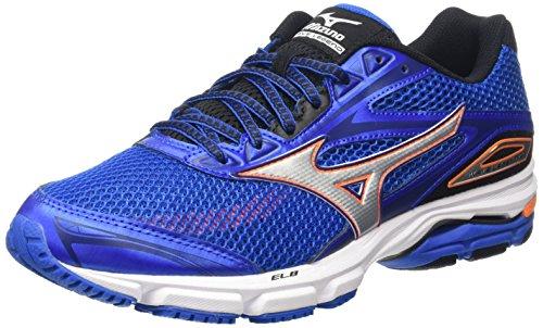 Mizuno Wave Legend 4 - Chaussures de Running Compétition homme Bleu - Blue (Skydiver/Silver/Clownfish)