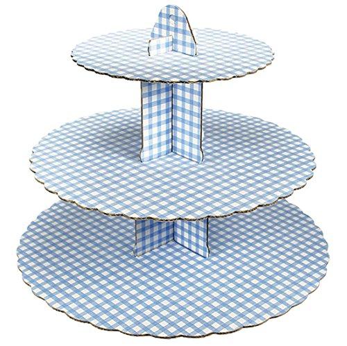Preisvergleich Produktbild erdbeerloft - Cupcake, Muffin Kuchenständer, Etagere, 3 Flächen, Blau