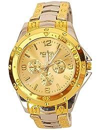 Styletime Presents Rosra SilverGold Gold Dial Watch For Men | Fashion Wrist Watch | Men Watch