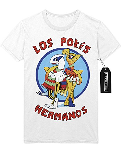 T-Shirt Pokemon Go Los Pokes Hermanos Mashup Breaking Bad Team Rocket Jessie James Mauzi Kanto 1996 Blue Version Pokeball Catch 'Em All Hype X Y Nintendo Blue Red Yellow Plus Hype Nerd Game C210005 Weiß S (Breaking Bad Cosplay Kostüm)