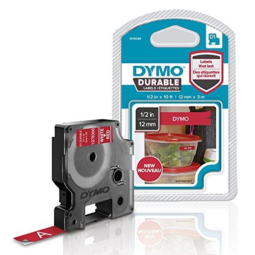 dymo-d1-ruban-detiquette-resistant-pour-etiqueteuse-12-mm-x-3-m-blanc-rouge