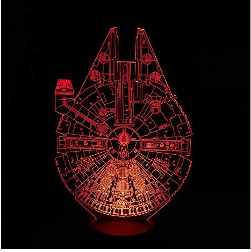 Nachtlicht Falcon 3D LED Nachtlicht 7 Bunte Atmosphäre Lampe Neuheit Beleuchtung