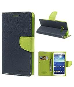Mercury Goospery Fancy Diary wallet Flip Cover For Samsung Galaxy On7 - Blue