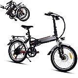 Soteer 20 inch/26 inch E-MTB, Mountainbike E-Faltrad, Klapprad E-Bike mit 250W Hochgeschwindigkeits-Bürstenlose Motor und 36V Lithium-Akku, 21 Gang Shimano Gangschaltung