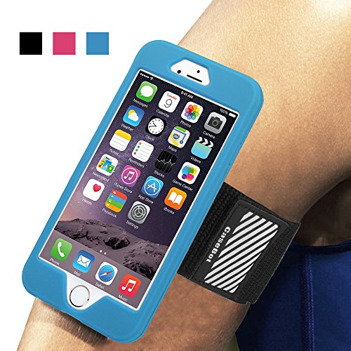 Fintie Apple iPhone 6 Plus / iPhone 6S Plus Armband / Hülle - [CaseBot Sportsarmband] Laufen & Training Sport Armband mit Premium Flexibel Abnehmbar Silikon Handy Hülle Case Etui für Apple iPhone 6 Pl Blau