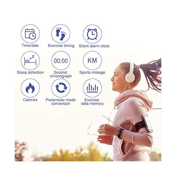 Hootracker Pulsera Actividad Fitness Smart Watch Tracker Contador de Pasos, Contador de Calorías,Distancia niños Mujer Hombre - Non-Bluetooth Non-App 8