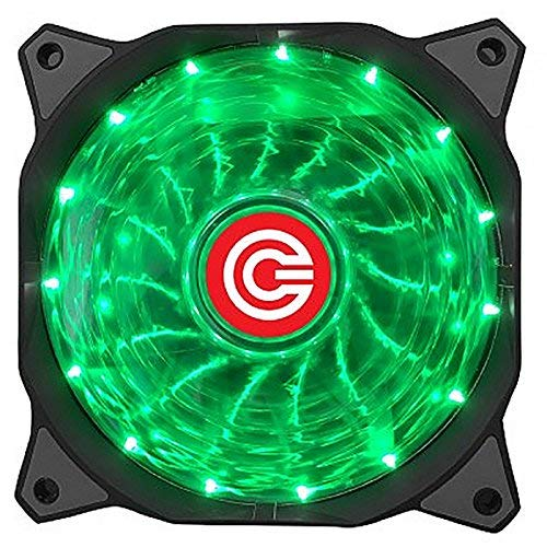 Circle 120MM 15 LED Silent Cabinet Cooling Fan (Black)