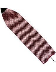 Housse Chaussette de Surf Couverture de Shortboard en Tissu Eponge Motif Rayure