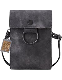 Bthdhk 6'' Stylish Pu Leather Small Crossbody Shoulder Bag With Strap For Women Smartphone - Gray