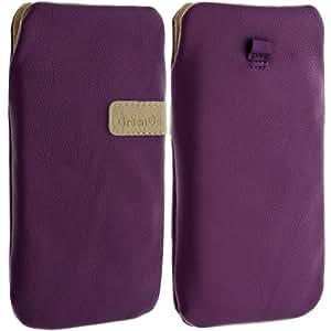 Etui universel de protection violet pour smartphone et MP3 dimension 13.7 x 7.1 x 0.86 cm (Galaxy S3, Xperia SL,...) - Violet