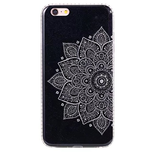 Bling Sparkle Glitter Rhinestone Resin Diamant Schützende Rückseite Cover Case Soft TPU Shell Stoßfänger [Shock Absorbtion] für iPhone 6 Plus & 6s Plus ( Color : C ) E