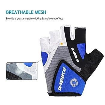 Inbike 5mm Gel Padded Half Finger Cycling Gloves Bike Bicycle Gloves For Biking(blue,m) 3