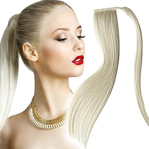 Pony Tail Extensions, capelli, colore: biondo platino