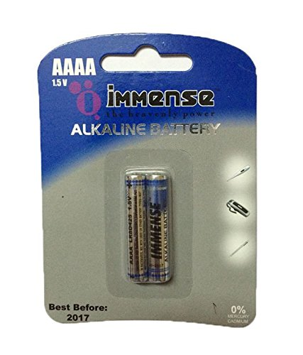 Immense AAAA LR8 1.5v Alkaline Battery (4 Blister Packs with 2 Cells each)