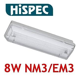Hispec IP65 8w Emergency Bulkhead Light Universal Non or Maintained EM3 NM3