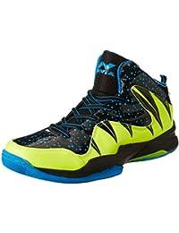 Nivia Heat Basketball Shoes, UK 10 (Black/Aster Blue)