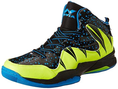 Nivia Heat Basketball Shoes, UK 9 (Black/Aster Blue)