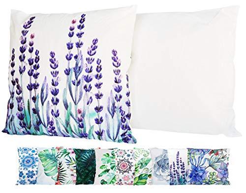 JACK Outdoor Lounge Kissen 45x45cm Motiv Dekokissen Wasserfest Sitzkissen Garten Stuhl, Farbe:Lavendel