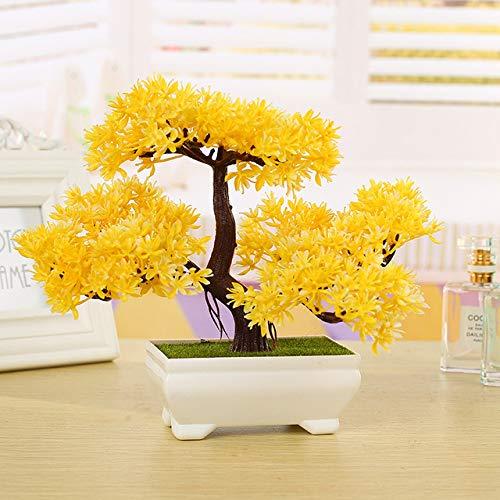 Soniry artificiale pianta bonsai albero finto bonsai albero in vaso arredi per uffici home alberi artificiali per la decorazione domestica bonsai artificiale: 5