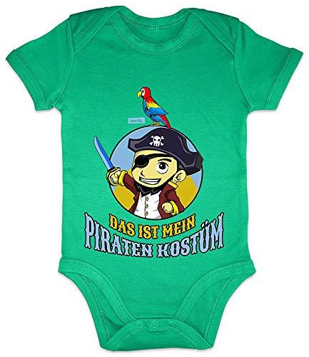 HARIZ Baby Body Kurzarm Das Ist Mein Piraten Kostüm Karneval Kostüm Plus Geschenkkarte Frosch Quietsch Grün 3-6 Monate