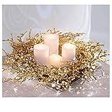 Pureday Weihnachtsdeko - Dekokranz Goldglitter - Gold glitzernd - ca. Ø 50 cm