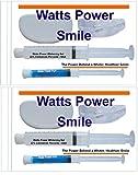 22% Sensitive Formula - Watts Power Teeth Whitening Kits with FCP Anti-cavity Gels Plus New Technology Teeth Shields - 2 Pack by Direct 2u Wholesale LLC