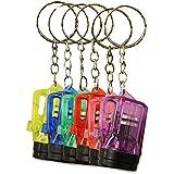 12 x HC 915711 Schlüsselanhänger Taschenlampe Lampe Vapor Kunststoff 4 cm transparent