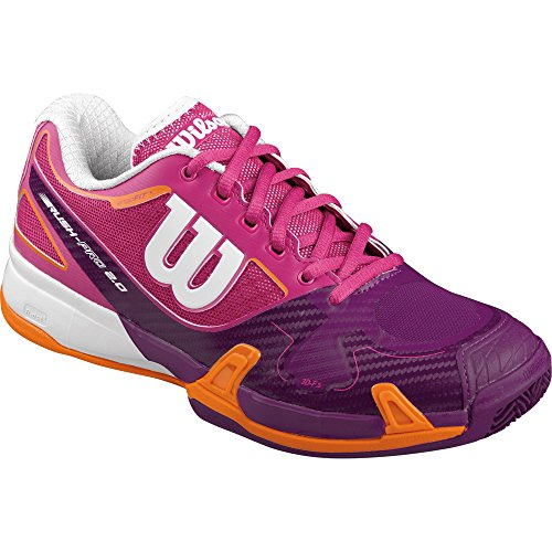 Wilson - Rush Pro 2.0 Clay Court W Fiesta Pin, Scarpe da tennis Donna, Rosa (rosa), EU 40<U+2153> (UK 6.5)