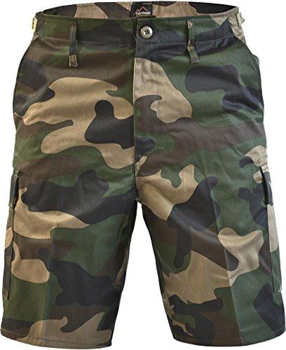 normani Kurze Bermuda Shorts US Army Ranger Feldhose Arbeitshose S - XXXL Farbe Woodland Größe 3XL