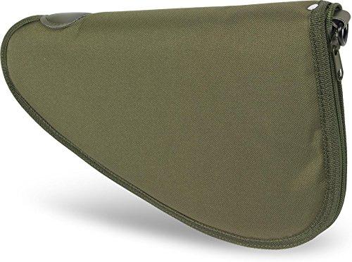 normani Abschließbare, weich gepolsterte Pistolentasche mit umlaufendem Reißverschluss und Abschließvorrichtung Farbe Oliv Größe ()