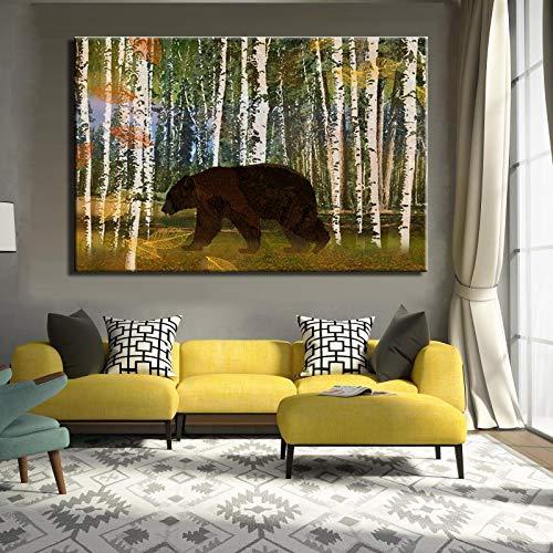 Rtckf quadro moderno modello astratto animale in tela poster da parete foto arte per soggiorno home decor (no frame) a4 50x70cm