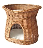 Jardi Depot - Coussins et Paniers - Panier en osier pour chat avec coussin - Modèle Tosa